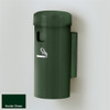 """Deluxe Cigarette Smokers Post, 3.5"""" x 8"""" Wall Mount, Choose Color"""
