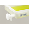 """Lab Tray with Faucet, Rugged LDPE, 18"""" x 22"""" x 4"""""""