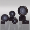 38-400 Black Phenolic Ribbed Bottle Cap, Cone Lined