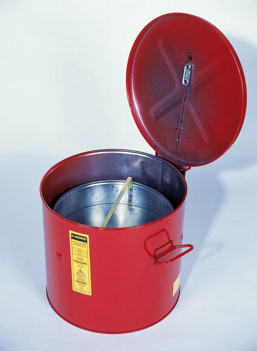 JUSTRITE 27716 Wash Tank Can,Basket,Benchtop,6 gal.