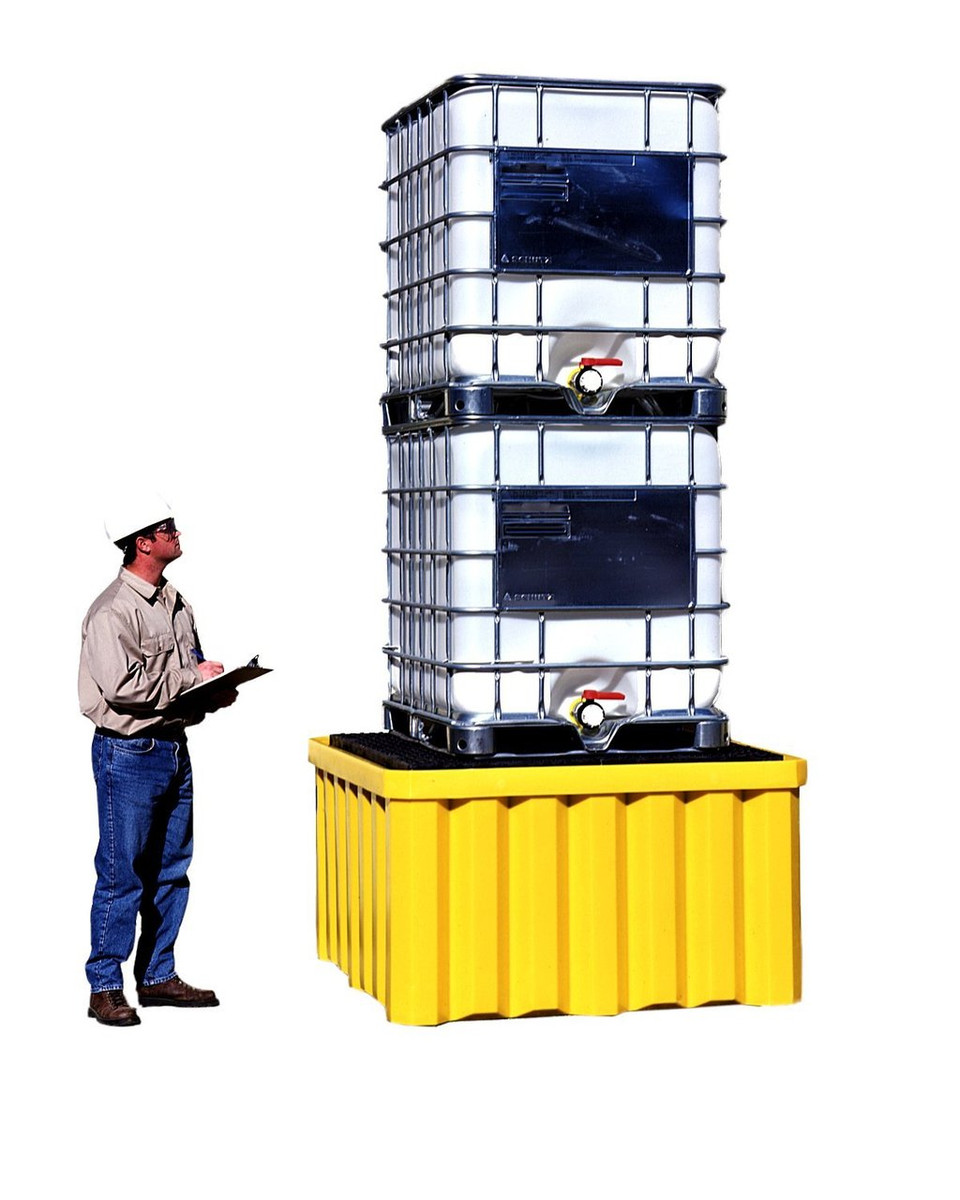 Double Stack Capacity IBC Tote Spill Pallet, 16000 lb capacity