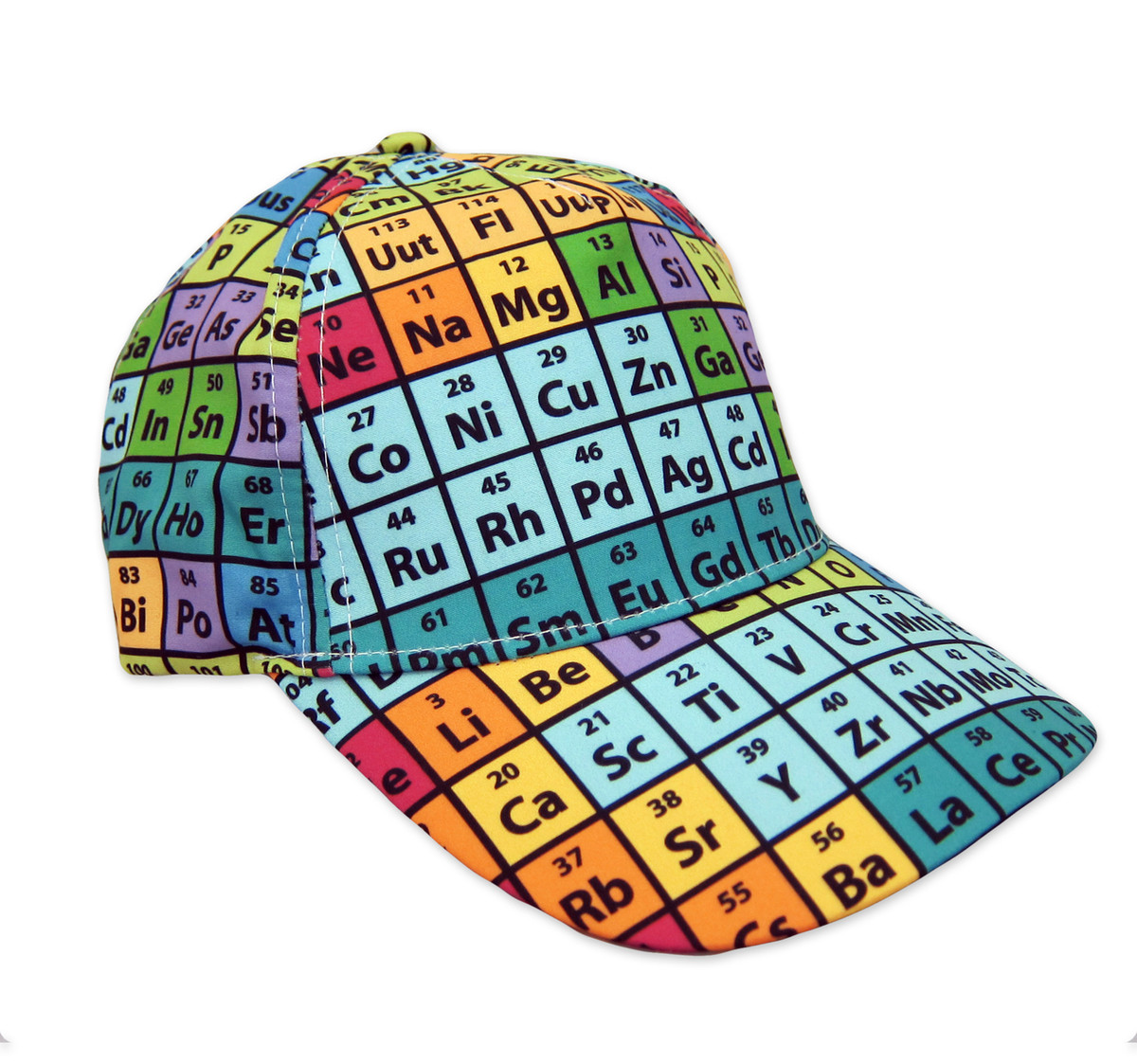d48950931 Periodic Table Hat, Rainbow Baseball Cap, Cotton
