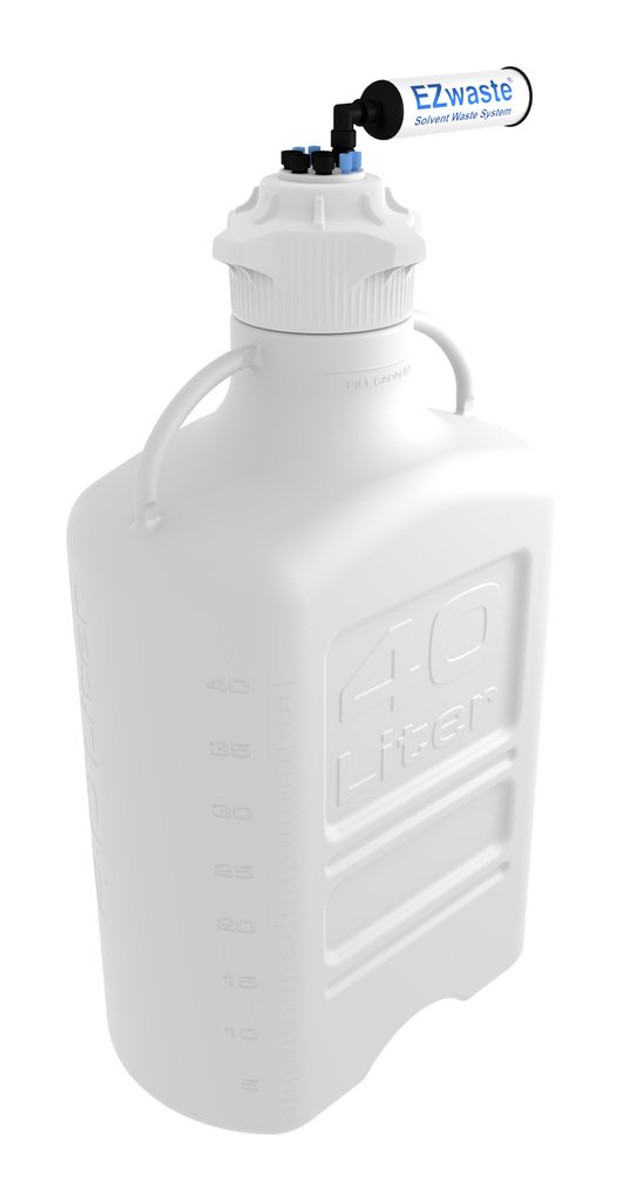 EZWaste Carboy 40L HDPE 4 Ports for 1/8
