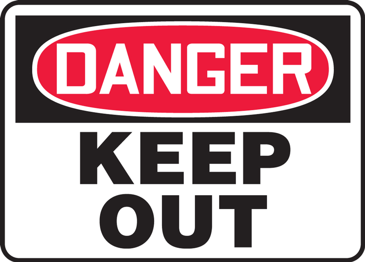 Danger Poison Keep Out Toxic Chemical Gas Warning Notice Aluminum Metal Sign