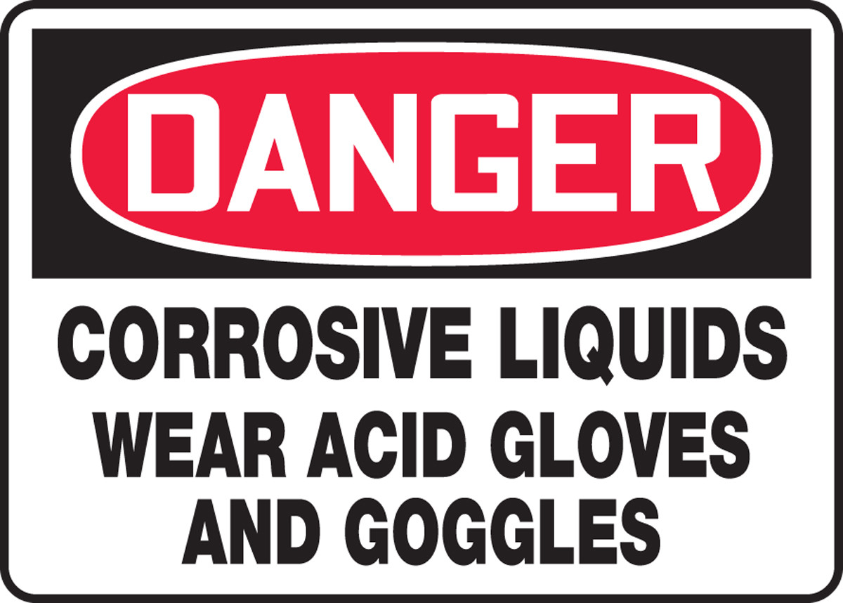 CorrosiveMade in the USA OSHA Danger Sign