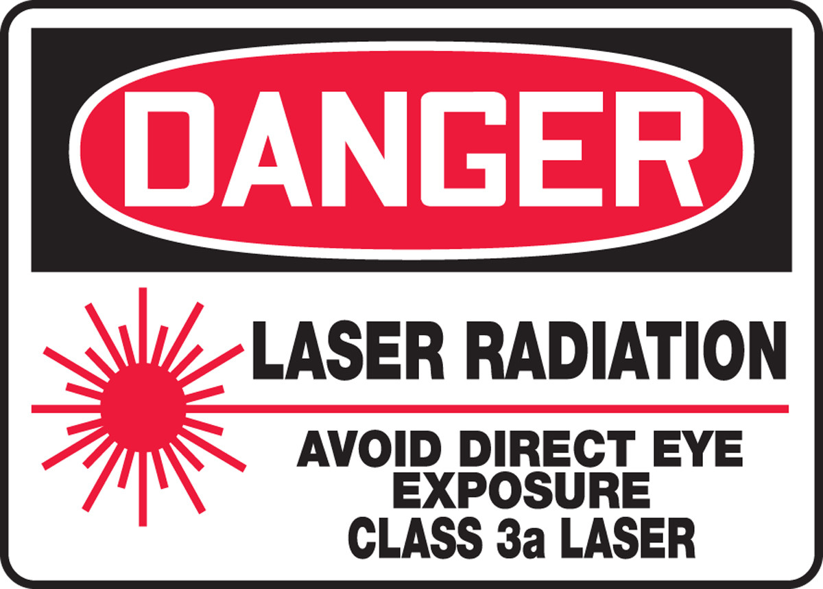 Laser In Use With Symbol OSHA WARNING Sign Made in the USA