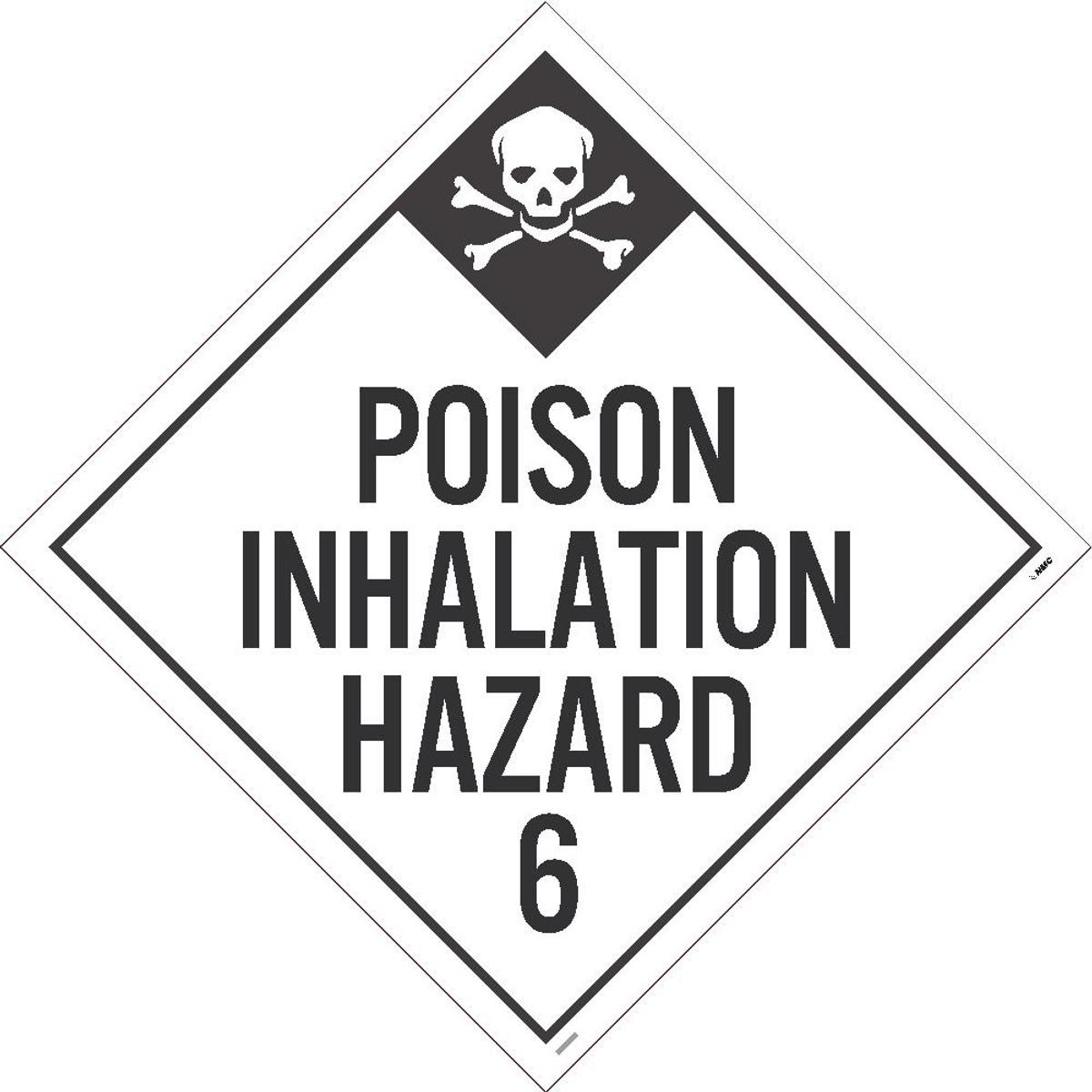 National Marker NM-DL125UV100 Poison Inhalation Hazard 6