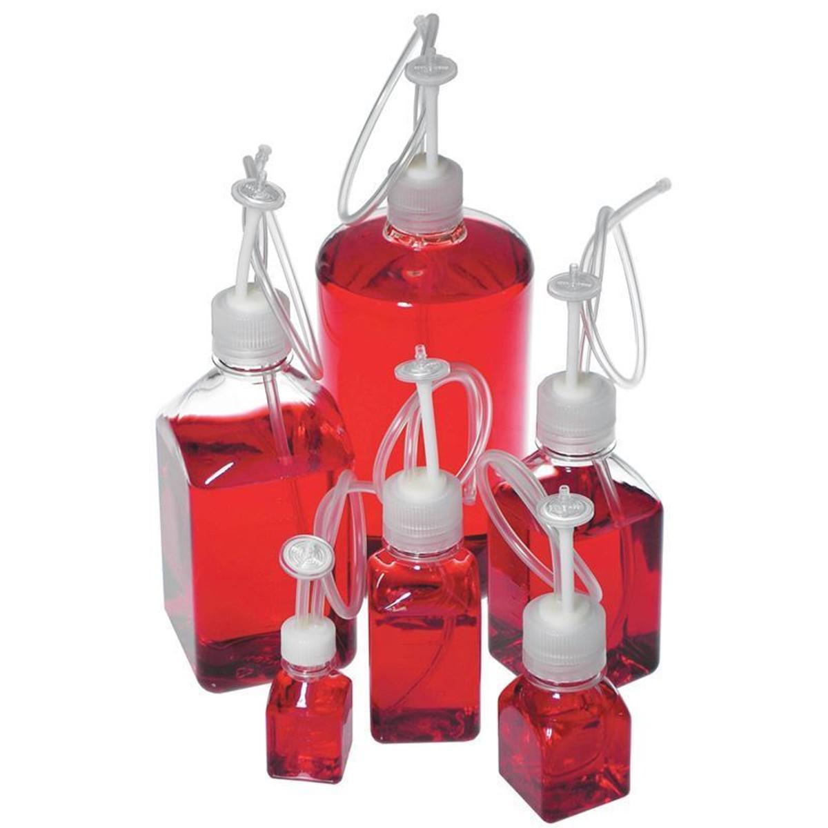 1,000mL Single-Use Bottle Assembly, 2-Port, Sterile PETG, case/10