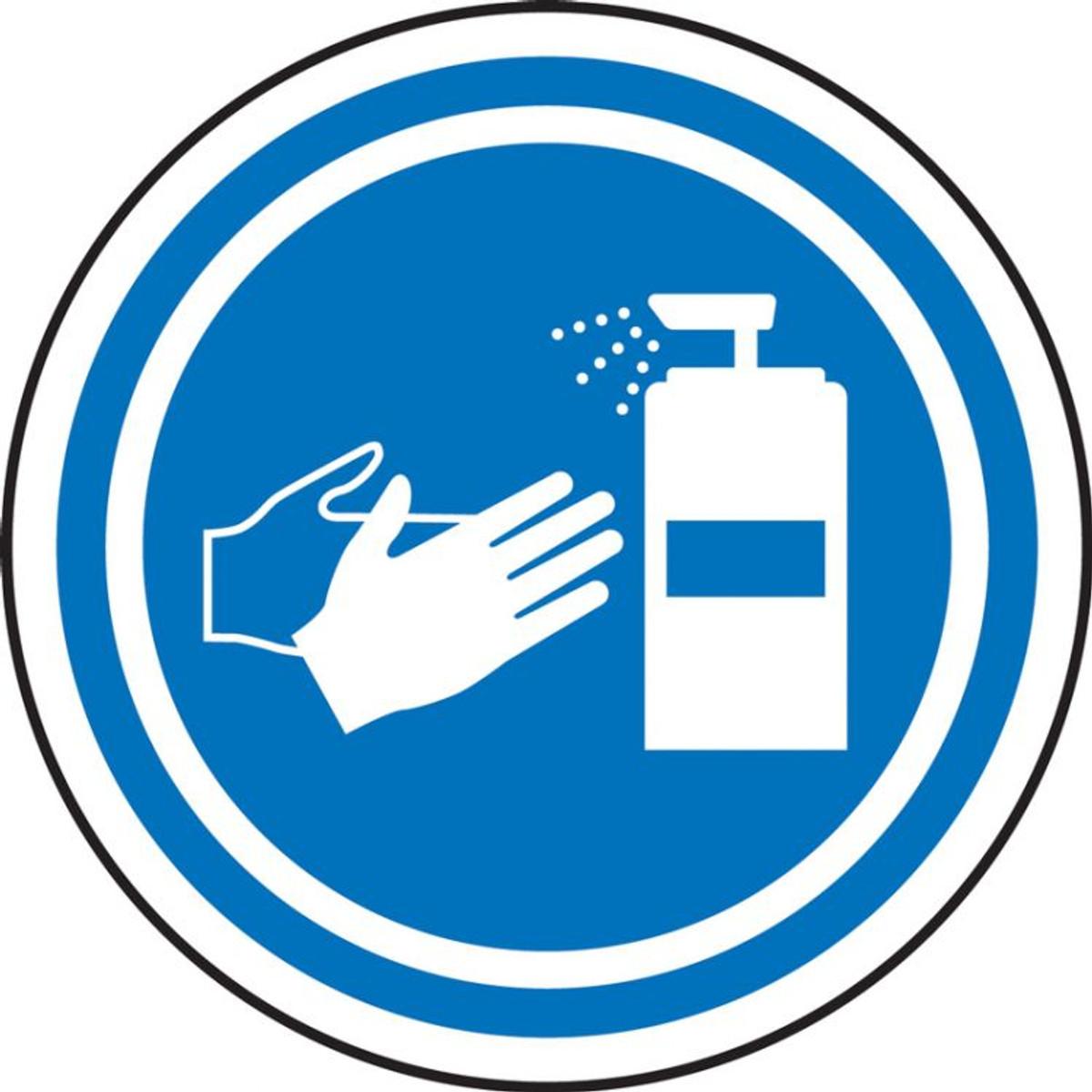 Sticker measures behavioral rules Protection Hygiene Corona Foil Sticker A4