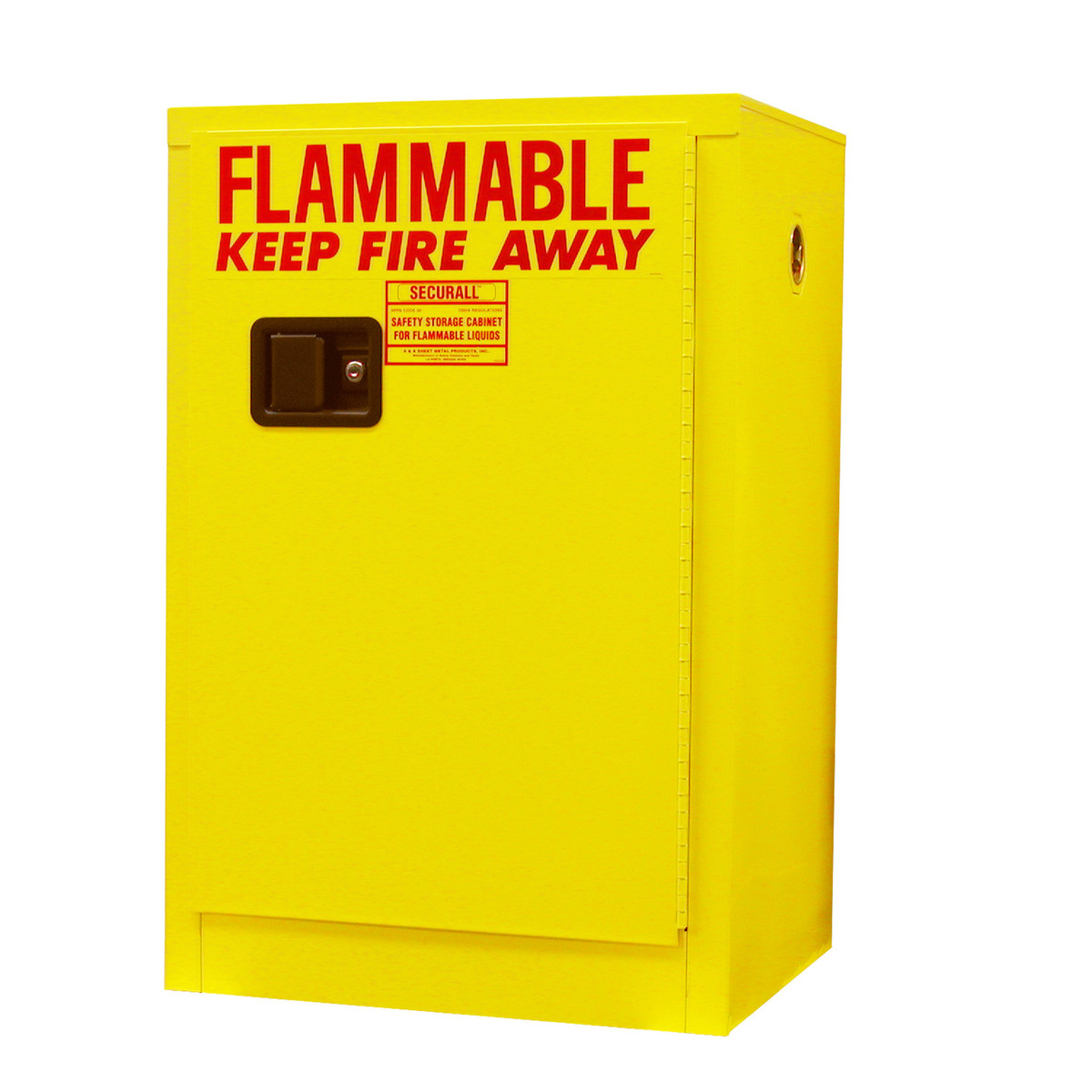 Securall Flammable Storage Cabinet 12 Gal Manual Door