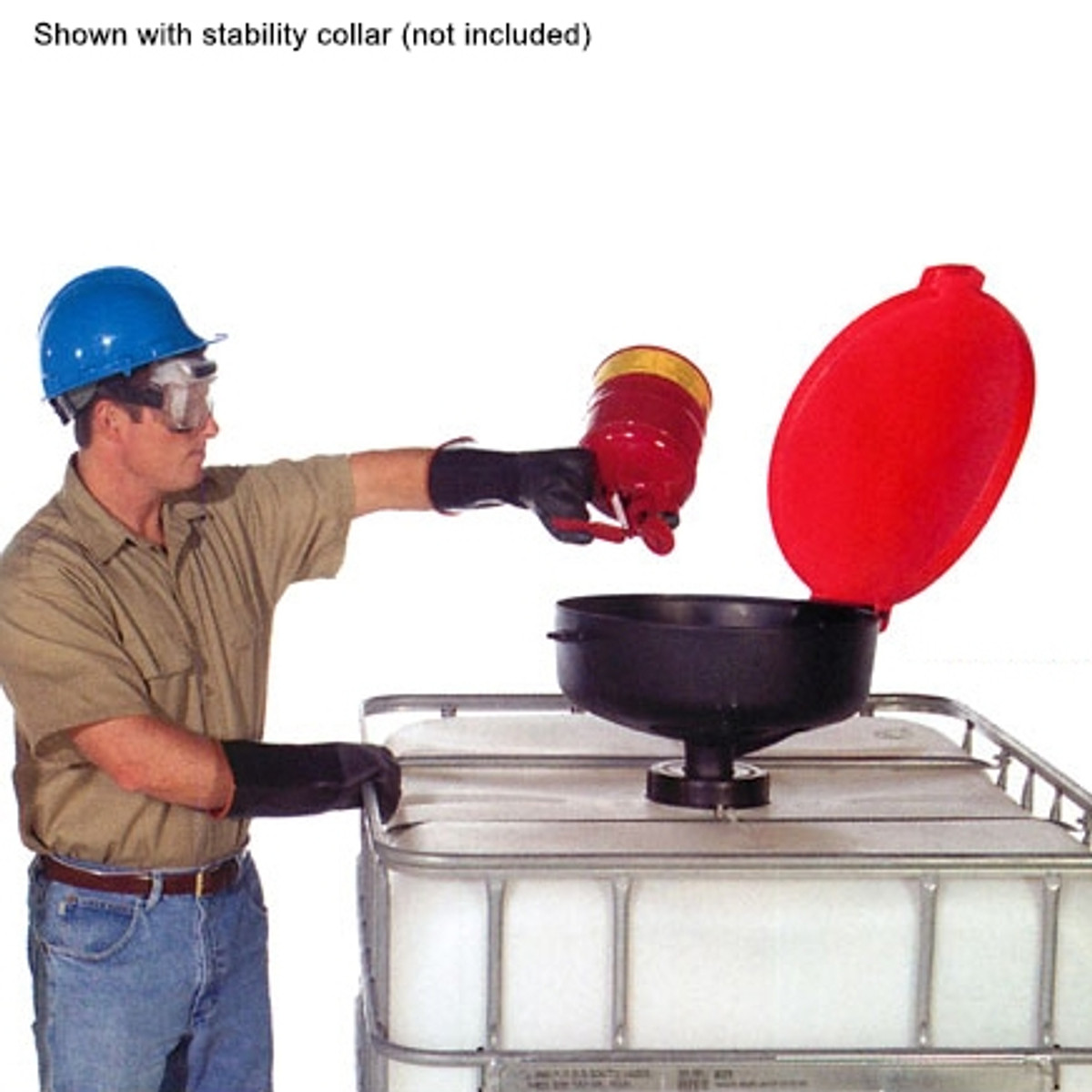 Burp-Free Large Drum Funnel fits 2