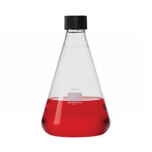 WHEATON® 25mL Glass Flask, Erlenmeyer, 20-400 Threaded