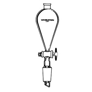 WHEATON® 125mL, Funnel, Separatory, 19/22 Clear