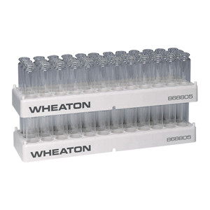 WHEATON® 36 Position PP Vial Rack, 23.1mm Diameter Holes, case/5