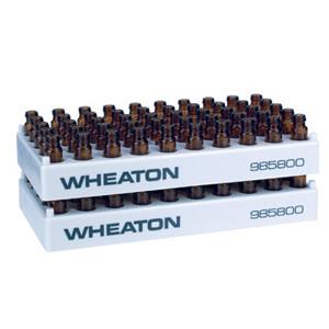 WHEATON® 50 Position Vial Rack, PP, 12.5mm Open ID, case/5
