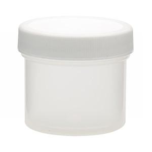 WHEATON® 60mL PP Jars, Foam Lined Polyethylene Caps, case/48