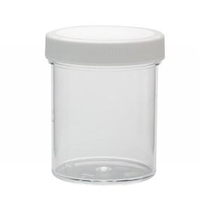 WHEATON® 125mL Clear Polystyrene Jar, Polyethylene Foam Lined Cap, case/36