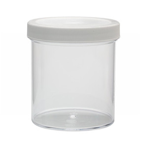 WHEATON® 500mL Clear Polystyrene Jars, Foam Lined Polyethylene Caps, case/24
