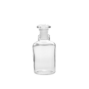 WHEATON® 100mL Bottles, Dropping, Clear Glass, Ground Stopper, case/6