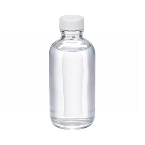 WHEATON® 4 oz Glass Boston Round Bottles, PTFE Lined PP Caps, case/24