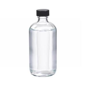 WHEATON(R) 8 oz Glass Boston Round Bottles, Polyethylene Cone Lined Caps, case/12