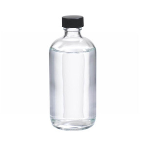 WHEATON® 8 oz Glass Boston Round Bottles, Rubber Lined Caps, case/12