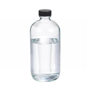 WHEATON® 16 oz Glass Boston Round Bottles, Rubber Lined Caps, case/12