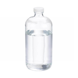 WHEATON® 32 oz Clear Glass Boston Round Bottles, Poly Vinyl Liner Bulk, case/12