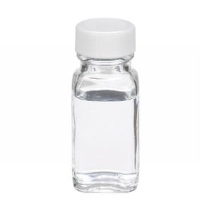 WHEATON(R) 1 oz Clear Glass Bottles, French Squares, PTFE Liner, case/48