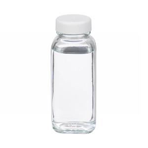 WHEATON® 4 oz Clear Glass Bottles, French Squares, Poly Vinyl Liner, Bulk, case/120