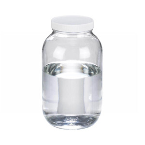 WHEATON® 65 oz Clear Glass Wide Mouth Packer Bottles, Vinyl Lined PP Caps, case/6