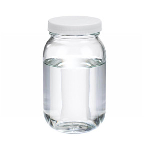 WHEATON® 16 oz Clear Glass Wide Mouth Packer Bottles, PTFE Lined PP Caps, case/24