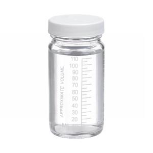 WHEATON® 4 oz Graduated Glass Volumetric Bottles, PTFE Lined PP Caps, case/24