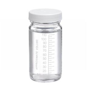 WHEATON® 4 oz Graduated Glass Volumetric Bottles, Vinyl Lined PP Caps, Bulk, case/144