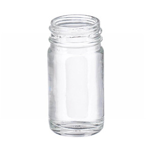 WHEATON(R) 1 oz Bottles, Wide Mouth, Straight Side Round, Clear, 33-400 neck, No Caps, case/432