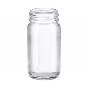 WHEATON® 2 oz Clear Wide Mouth Straight Side Glass Bottles, 38-400 neck, No Caps, case/288