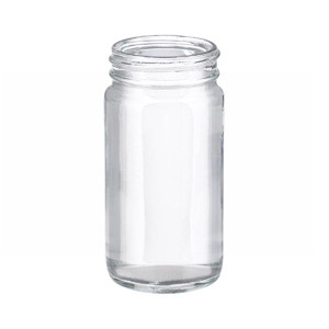 WHEATON(R) 4 oz Clear Wide Mouth Straight Side Glass Bottles, 48-400 neck, No Caps, case/144