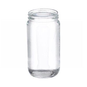 WHEATON(R) 16 oz Clear Wide Mouth Straight Side Glass Bottles, 70-400 neck, No Caps, case/48