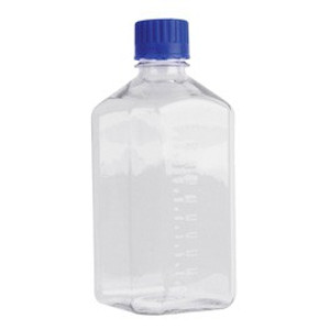 WHEATON® Sterile 1000mL Bottles, Square Media, PET, case/12