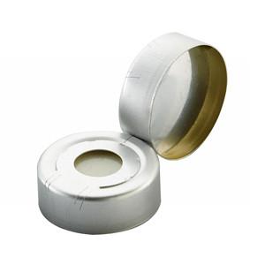 WHEATON® 20mm Hole Caps for Headspace Vials, Pressure Release, Alum/Silicone Septa, case/100