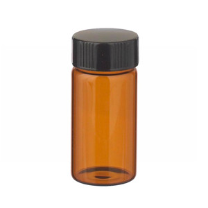WHEATON® 20mL Amber Vials, 24-400, Lab File, PTFE, case/72