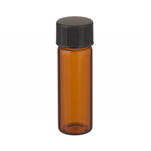 WHEATON® 4mL Solid Top Amber Vials in a box, PTFE /Rubber Liner, case/144