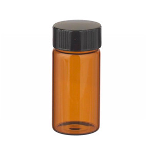 WHEATON® 20mL Amber Vials in a box, Rubber Lined Caps, case/72