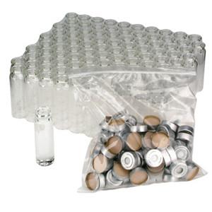 WHEATON® 20mL Clear Glass Headspace Vials, Convenience Pack, Aluminum, Silicone Seals, case/100