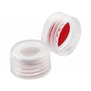 WHEATON® ABC 9mm Open Top Screw Caps, PTFE/Silicone, Slit, case/1000