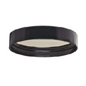 WHEATON® 58-400 Black Phenolic Caps, 14B Rubber Liner, case/72
