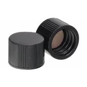 WHEATON® 8-425 Black Phenolic Caps, PTFE Liner, case/200