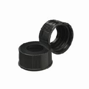 WHEATON® 20-400 Black Phenolic Caps, No Liner, case/200