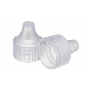 WHEATON(R) 20-410 Dropper Tip Caps, PP Natural, case/1000