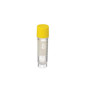 WHEATON® 2mL Ext FS CryoElite Vials with Marking Spot, Yellow Caps, Sterile, case/100